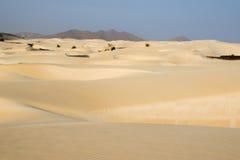Sand desert in Cape Verdi Stock Photo
