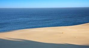 Sand desert near sea Royalty Free Stock Photo