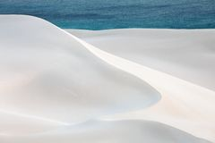 Sand desert and ocean Royalty Free Stock Photography