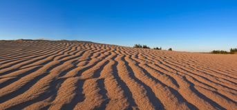 Sand desert panorama Royalty Free Stock Images