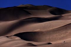 Sand desert and people Royalty Free Stock Image