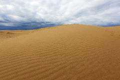 Sand desert  before thunderstorm Royalty Free Stock Image