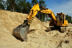 Sand digger Stock Image