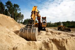 Sand diggers Royalty Free Stock Photo