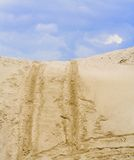 Sand dirt road up Royalty Free Stock Photography