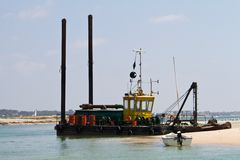Sand dragger boat Stock Photos