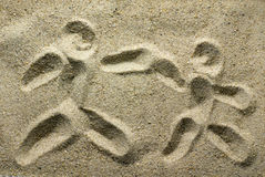 Sand Drawing Stock Images
