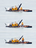 Sand Dredging in Asia. Stock Photography