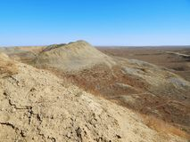 Hills in the steppe. stock image
