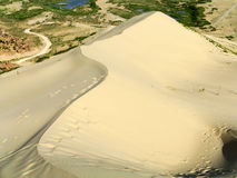Sand dune,way. Sand dune,sand sea,the way to where Royalty Free Stock Photos