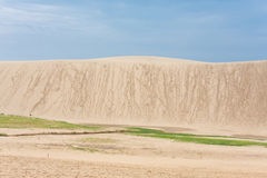 Sand dune. Japanese tourists climbing the sand dunes of Tottori Royalty Free Stock Photography