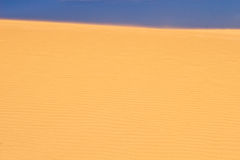 Sand dune. Dune side seen from its base, Fuerteventura, Canary Islands Stock Photo