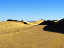 Sand Dune. Dune sand desert mountain canaria spain africa morocco sahara nature reserve dry sahel water ocean sea Stock Images