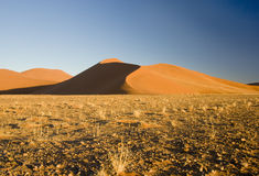 Sand Dune. At dusk in the Namib Desert in Sossusvlei, Namibia Stock Photography