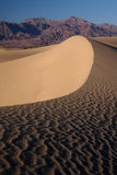 Sand dune. In the desert during sunset hour (Death Valley national park, California, USA Stock Photos