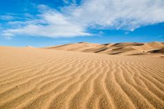 Sand Dune. Colorado great sand dunes park on a early summer day Royalty Free Stock Photography