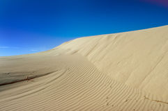 Sand Dune And Blue Sky Stock Photos