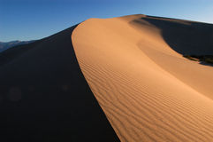 Sand dune arching to horizon Royalty Free Stock Photos