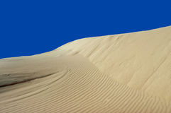 Sand Dune with Blue Sky Background Royalty Free Stock Image