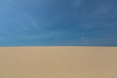 Sand dune. And blue sky in north Brazil Royalty Free Stock Photos