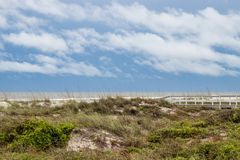 Sand dune at Butler Beach, St Augustine royalty free stock photography