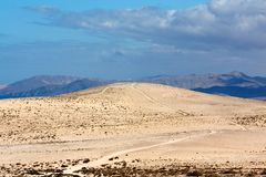 Sand dune in canary island Stock Photos