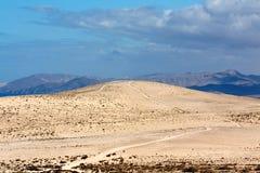 Sand dune in canary island Stock Photos
