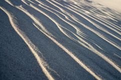 Sand dune closeup. Close-up shot of sand dunes in Death Valley, California Royalty Free Stock Photo