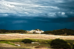 Sand dune. Coastal sand dune on a stormy day Stock Photo