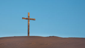 Sand Dune Cross Royalty Free Stock Photo
