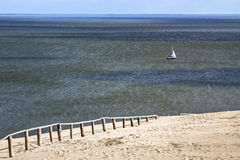 Sand dune in Curonian Gulf Royalty Free Stock Image