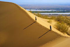 Sand dune in desert Stock Photos