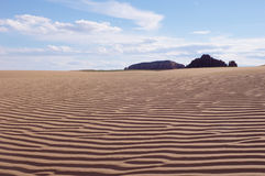 Sand dune in desert Royalty Free Stock Photos