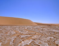 Sand dune and dry river bed Stock Image