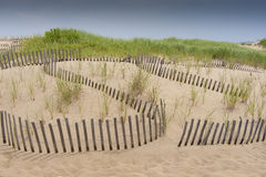 Sand dune erosion protection Royalty Free Stock Photos