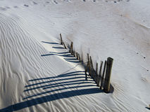 Sand Dune Fence. Sand Dune at St. Augustine Beach, Florida Royalty Free Stock Image