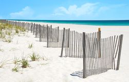 Sand Dune Fence on Pretty Beach royalty free stock photo