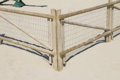 Sand Dune Fence Stock Photo