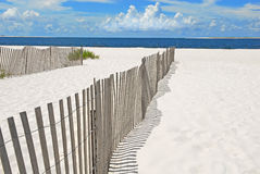 Sand dune fences on beach Royalty Free Stock Image
