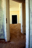 Sand dune inside a kolmanskop house Royalty Free Stock Photo