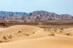 Sand dune in iranian desert Dasht-e Kavir Stock Images
