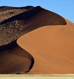 Sand dune in the Namib Desert Royalty Free Stock Photos