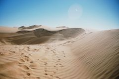 Sand dune in Oman Stock Photo