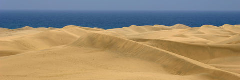 Sand dune panorama 1:3 Royalty Free Stock Image