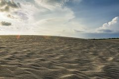 Sand dune at parangkusumo, shouthern area of Yogyakarta, Indonesia stock images