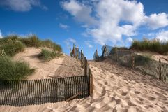 Sand dune with path Stock Photos