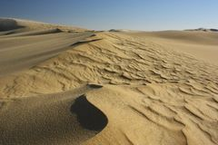 Sand dune ripples Royalty Free Stock Image
