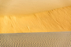 Sand Dune Ripples Stock Photography