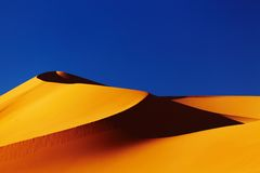Sand dune in Sahara Desert Royalty Free Stock Images