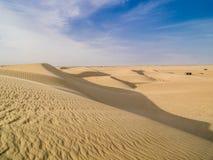 Sand dune of Sahara desert in Tunisia Royalty Free Stock Photo
